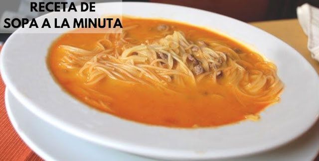 sopa a la minuta