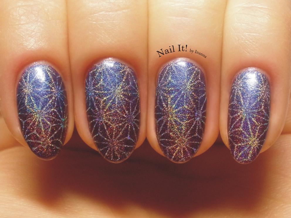 Niebiesko-fioletowy holo gradient