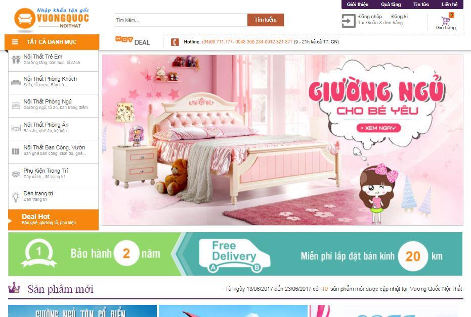 Giao diện blogspot bán hàng nội thấtg