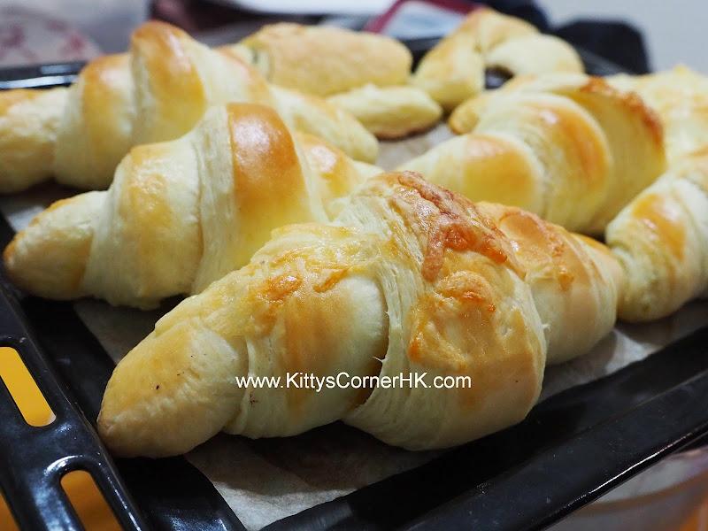 French Croissant DIY recipe 法式牛角 自家烘焙食譜