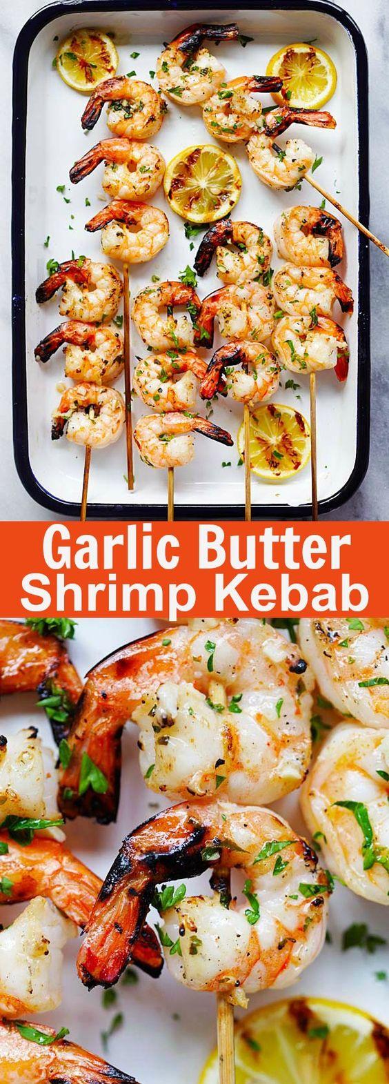 Garlic Butter Shrimp Kebab Recipe