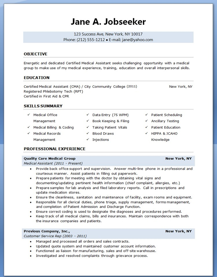 medical laboratory technician resume samples - Selol-ink