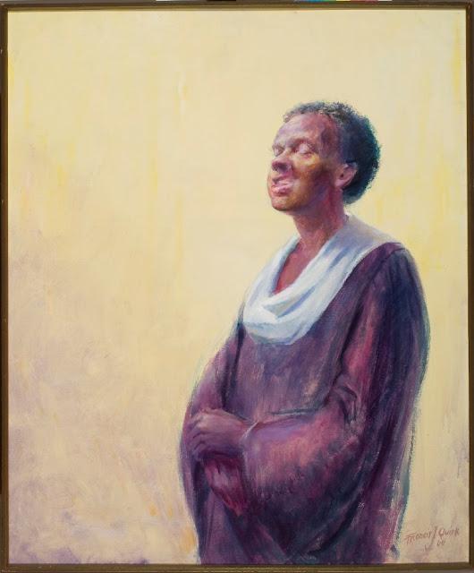 Portrait African American Woman, Gospel Singer Portrait, image gospel singer, Quirk