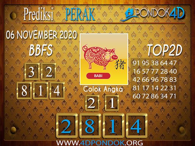 Prediksi Togel PERAK PONDOK4D 06 NOVEMBER 2020