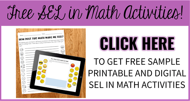 FREE offer of SEL in Math printable and digital activities.
