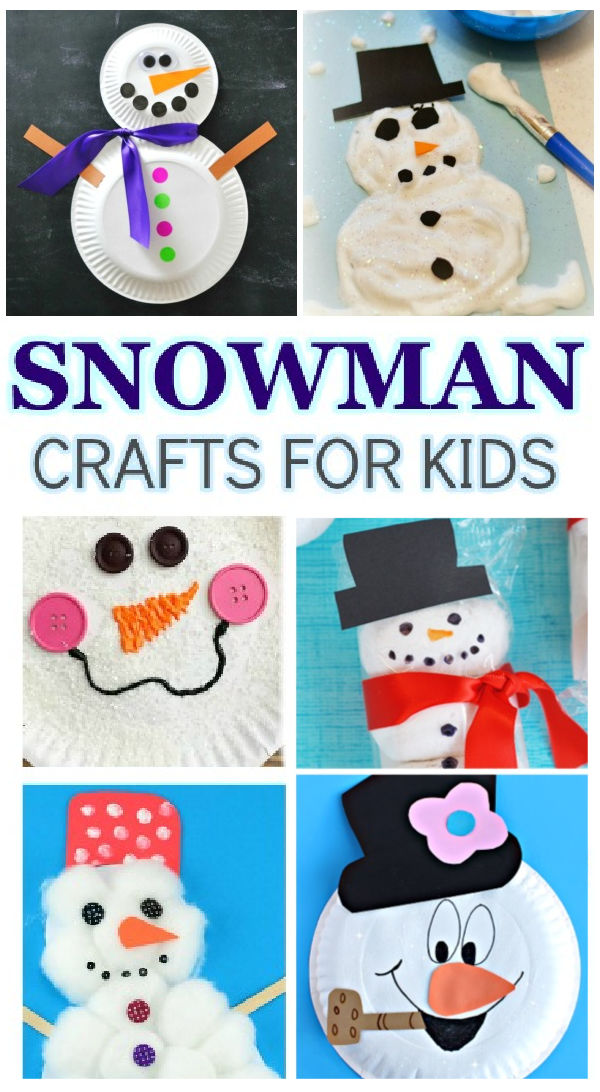 60+ snowman crafts for kids to make this winter #wintercraftsforkids #snowmancrafts #growingajeweledrose #activitiesforkids #snowman