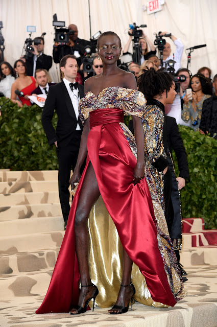Alek Wek Lili wears H&M to The Met Gala