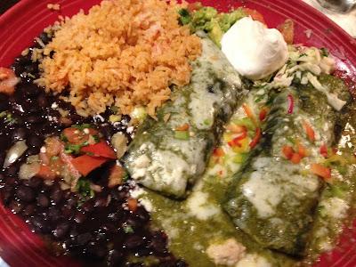 El Cholo blue corn enchiladas