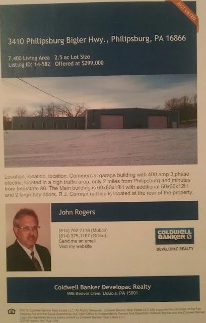3410 Philipsburg Bigler Highway for sale Coldwell Banker Developac Realty Dubois PA