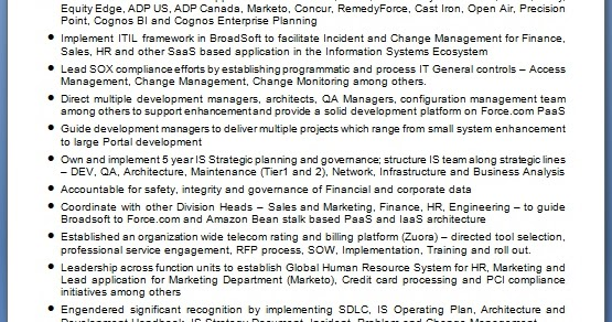 Sample Resume For Masters In Information Systems Student