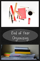 End of Year Organizing on Homeschool Coffee Break @kympossibleblog.blogspot.com