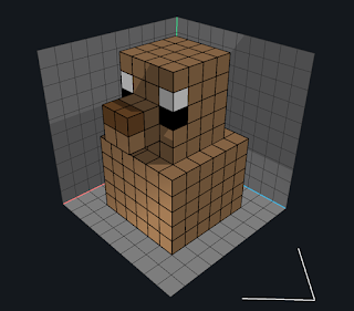 Painting voxels in VoxEdit using Paint Mode