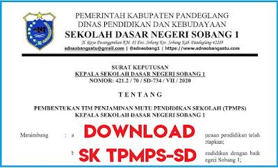 Contoh SK Tim Penjaminan Mutu Pendidikan Sekolah (TPMPS) Terbaru
