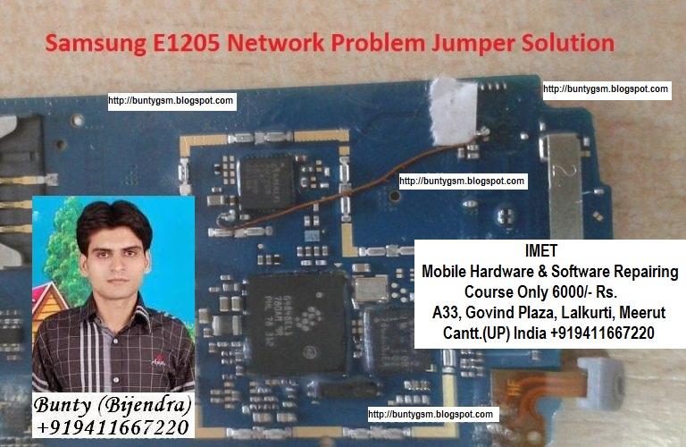 Samsung E1205 Network Problem Solution Jumper Ways - IMET