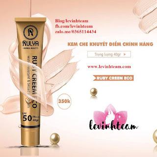 Thực Hưu Về Kem Che Khuyết Điểm Rulya Ruby Suncreen Eco