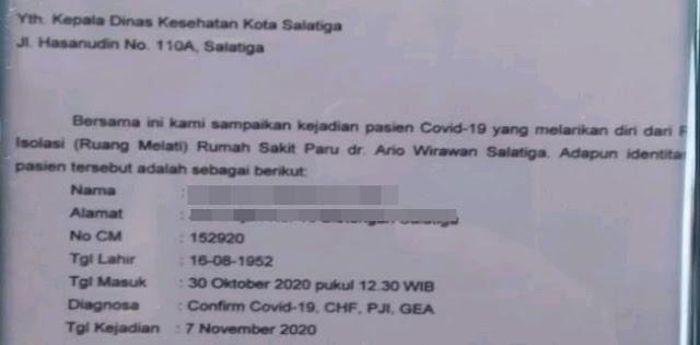 Terjadi Lagi, Pasien Covid-19 Kabur Dari Rumah Sakit