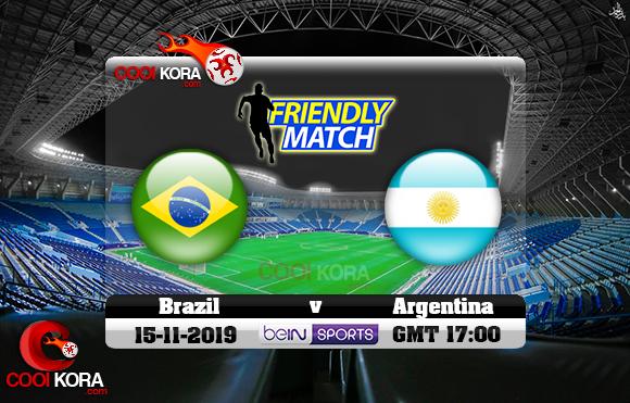 مشاهدة مباراة البرازيل والأرجنتين اليوم 15-11-2019 مباراة ودية