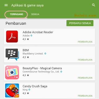 Aplikasi dan game terpasang
