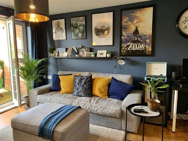 10 Blue And Grey Living Room Color Ideas Dream House