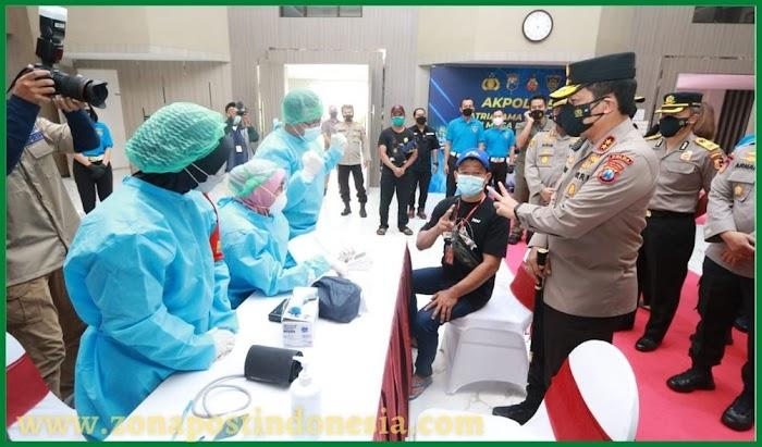 Kapolda Jatim Beri Apresiasi Kepada Akpol 95 Patriatama Berbakti di Masa Pandemi, Menggelar Vaksinasi Bagi Penyandang Disabilitas