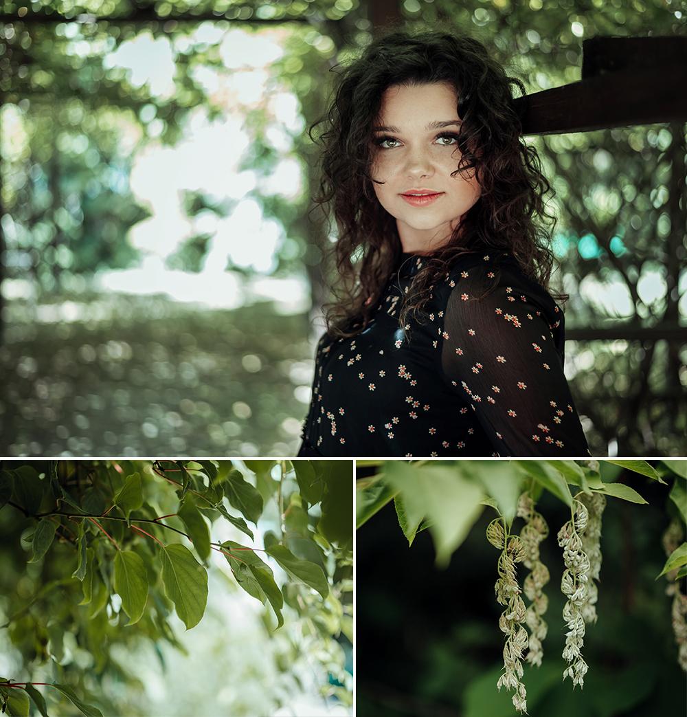 kobieta, ogród botaniczny, Lublin, fotograf, rośliny