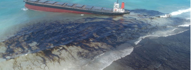 oil spill ship reef