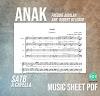 Anak - Freddie Aguilar Music Sheet SATB arr. Robert Delgado