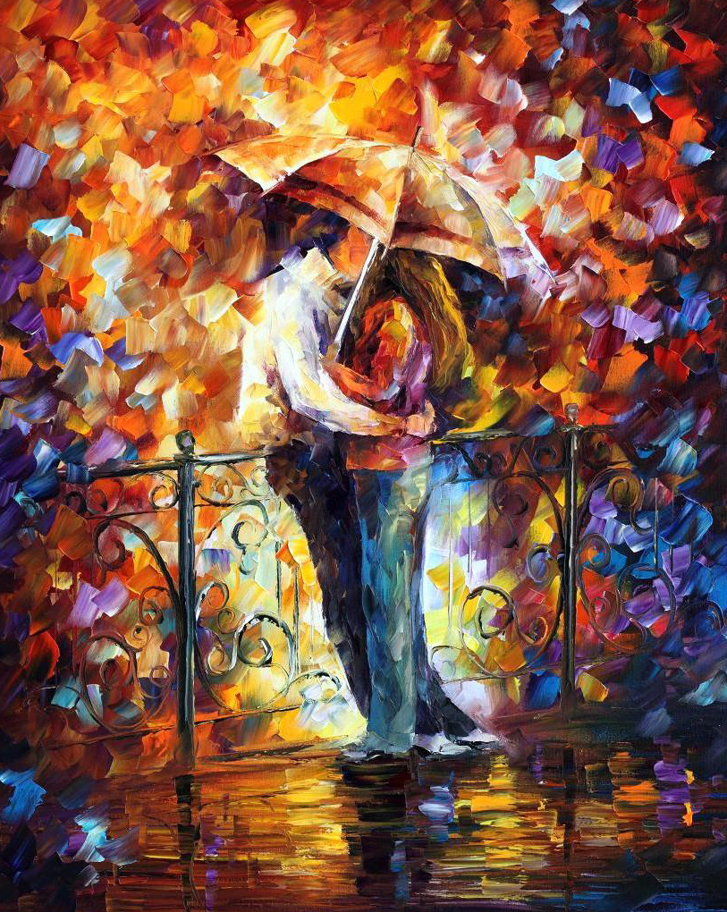 Pintores y pinturas juan carlos boveri leonid afremov - Cuadros de besos ...