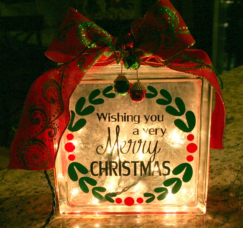 Christmas Vinyl Decals For Glass Blocks.How To Decorate Glass Blocks With Vinyl Glass Decorating Ideas