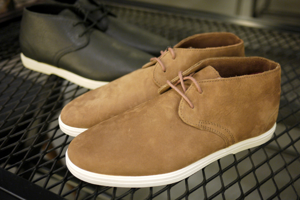 ae57b4be08 The desert boot influenced Vans OTW Howell returns as part of the Vans OTW  Collection. The shoes are available in a choice of black or brown
