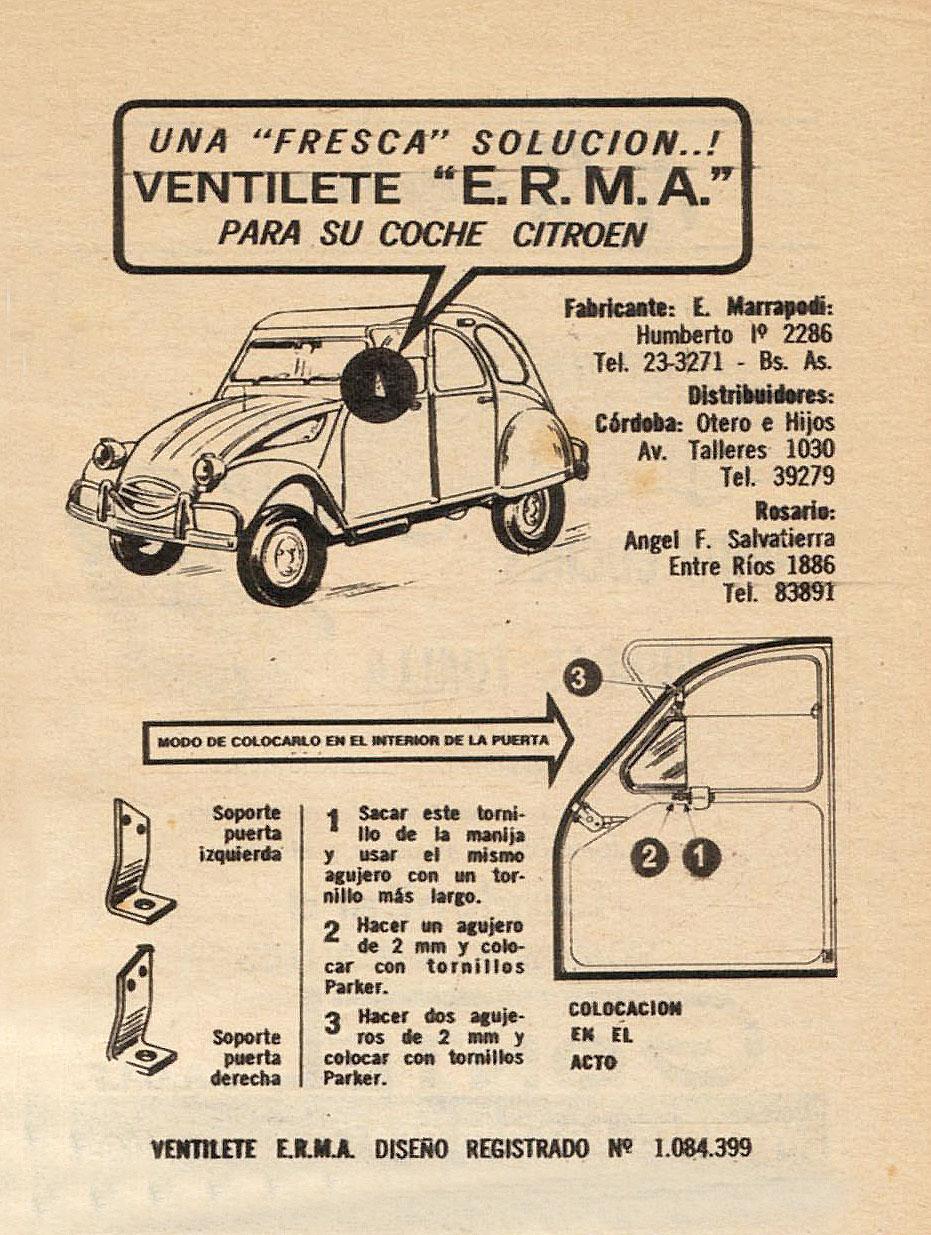 Archivo de autos: Ventilete para el 2 CV