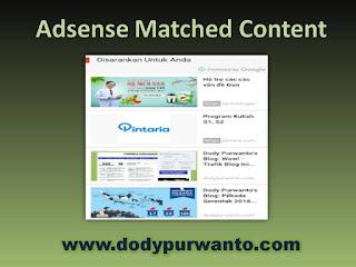 Hore! Akhirnya Adsense Matched Content Tampil Pada Blog