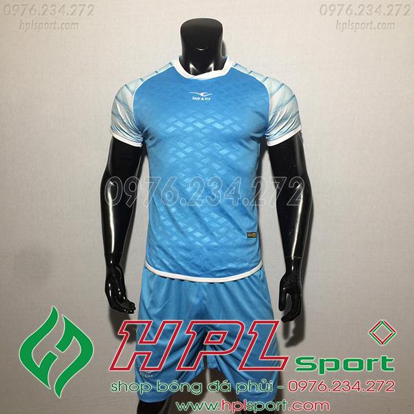 Áo ko logo KeepFly Vip màu xanh ngọc