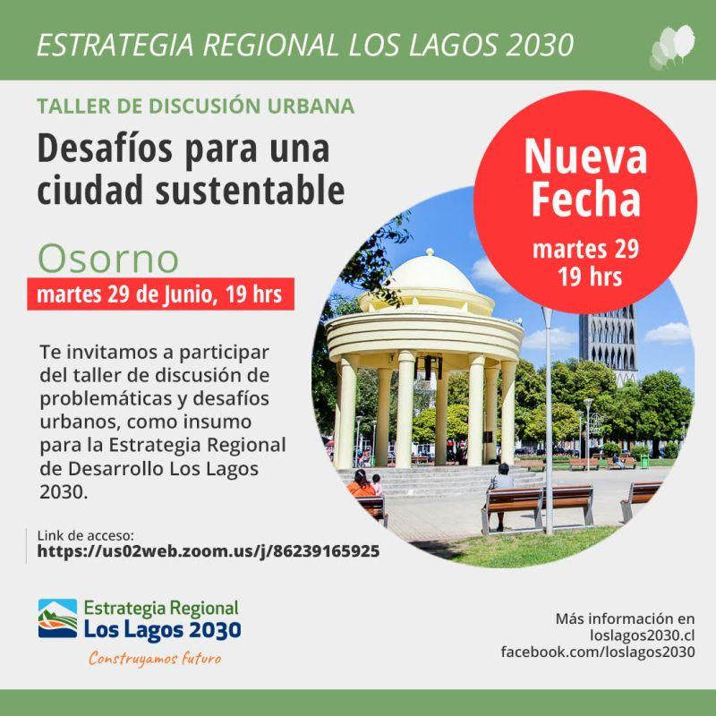 Osorno: nueva fecha para participar en Taller Ciudadano