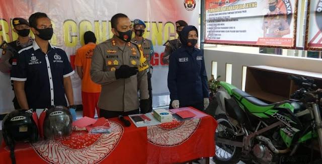 Diuber Polisi 20 Menit, 2 Pria Jambret HP Berhasil Ditangkap di Mrebet