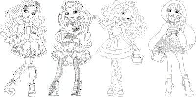 Ever After High Raven Queen Colouring Pages Colorings Net