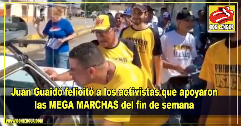 Juan Guaidó felicitó a los activistas que apoyaron las gigantes movilizaciones del fin de semana