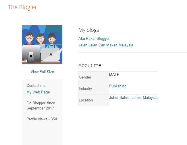 Saya Seorang Blogger Johor