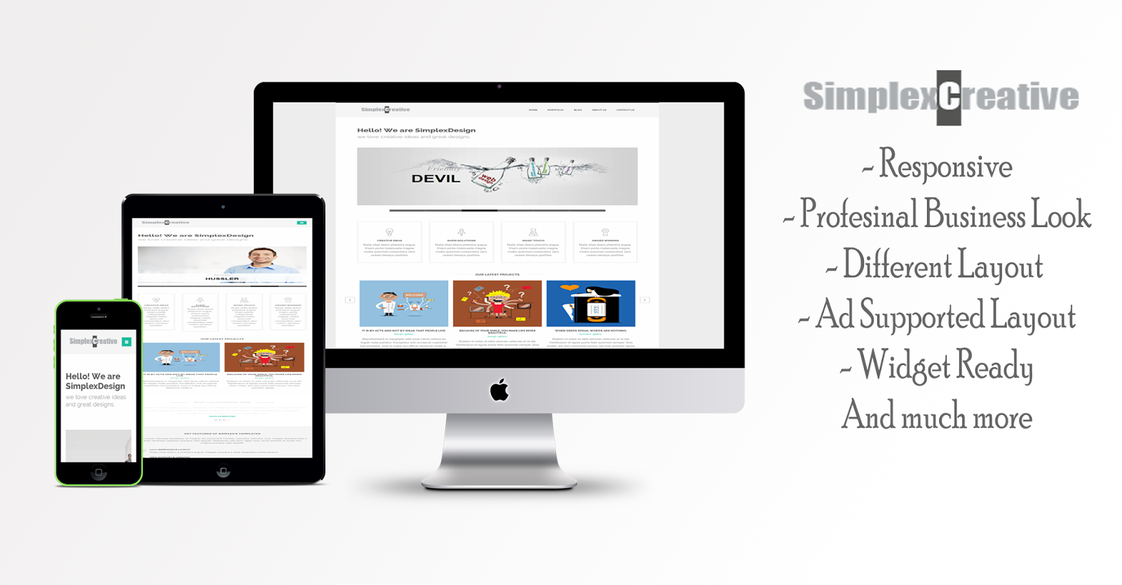 simplex creative parallax blogger template free premium baixar
