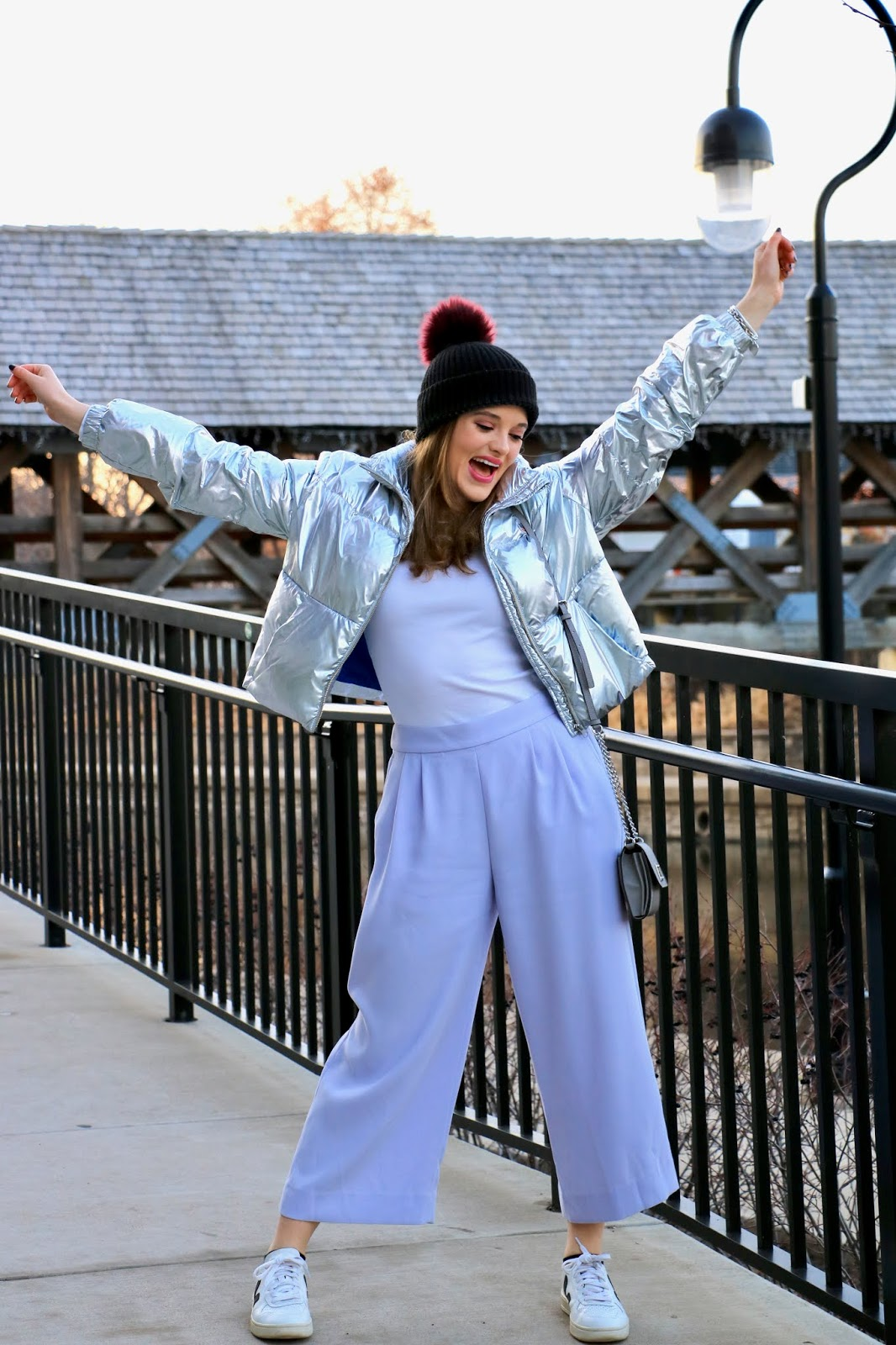 Nyc fashion blogger Kathleen Harper showing how to wear a white turtleneck.