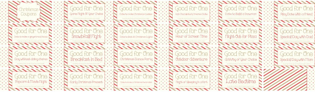 collage of all of the coupons in the Christmas coupon book