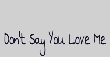 Arti lirik lagu dont say you love me fifth harmony