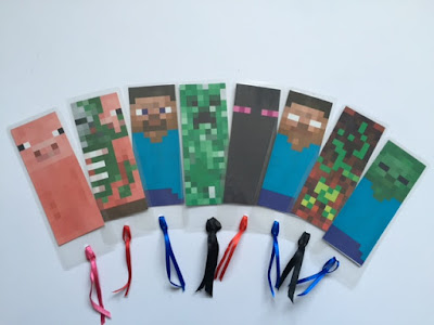 Minecraft printed bookmarks craft