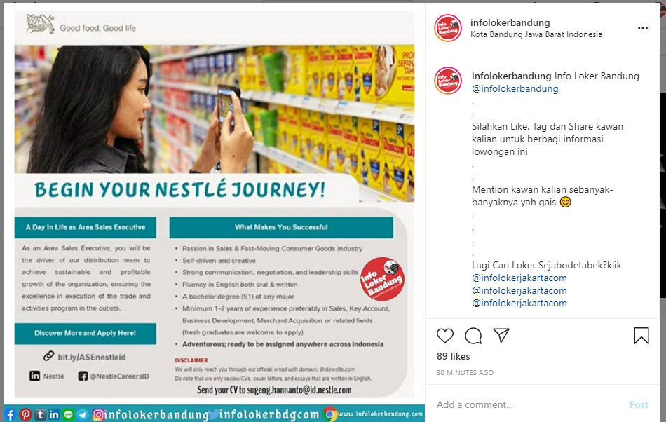 Lowongan Kerja Nestle Mei 2020