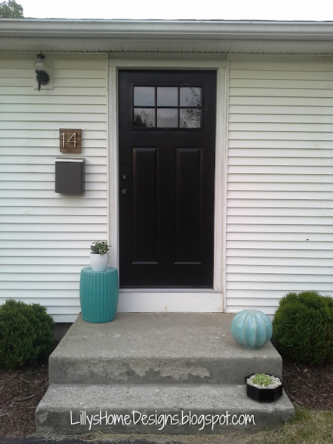 Front door makeover Lilly's Home Designs Modern Masters Black Elegant