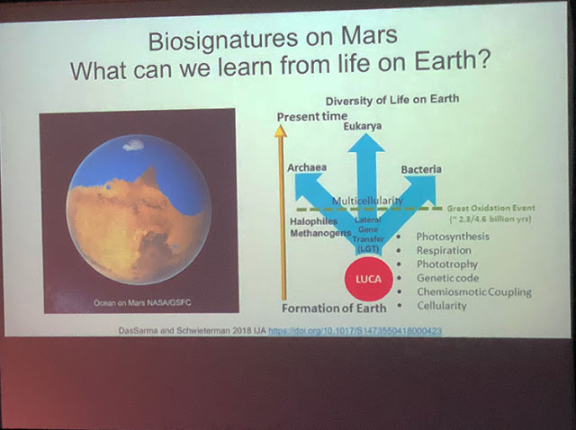 Studying extremophiles on Earth as analog for Mars (Source: S. DasSama, U of Maryland School of Medicine)