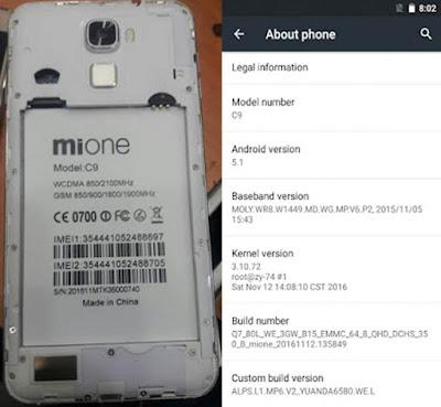 Mione C9 Firmware Flash File