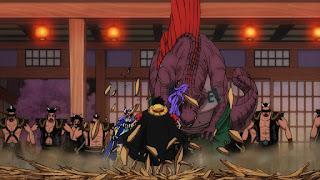ワンピースアニメ 990話   百獣海賊団 飛び六胞 ページワン 悪魔の実 ペーたん   ONE PIECE Beasts Pirates Tobiroppo PAGE ONE