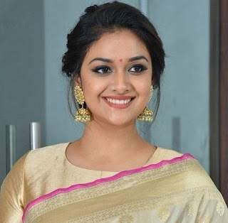 Keerthy Suresh in Saree with Cute Smile in Pandem Kodi 2 Audio Launch 5