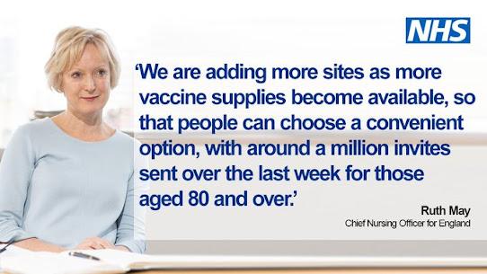 170121 1 million vaccine invites last week UK Govt